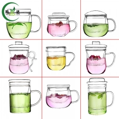 9 Different Styles High Quality Heat-Resistant Glass Tea Cup Oolong Tea Cup Black Tea Cup