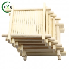 6pcs/Lot 7cm*7cm 100% Natural Bamboo Wood Trays For Tea Cup Green Tea Cup Mat Tea Mat