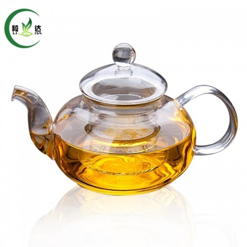 600ml Double Walled Glass Teapot With Infuser Filter Glass Kettle Green Tea Teapot Puer Tea Teapot