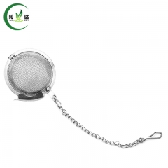 Stainless Steel Tennis Ball Shaped Tea Strainer Filter With Chain Green Tea Infuser