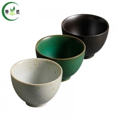 75ml Japanese Style Yao Bian Cu Tao  Porcelain Tea Cup With Round Shaped White Tea Cup Green Tea Cup