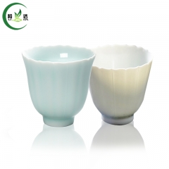 2pcs 2 colors Jing De Zhen Porcelain Tea Cup With Kwai Mouth 30ml