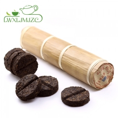 200g Ripe Puerh Tea Mini Cake In Bamboo Leaf Tube Puer Tea Pu erh Tea Pu-erh Tea