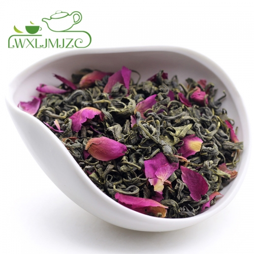 Rose Petals with Yu Wu Green Tea Blened