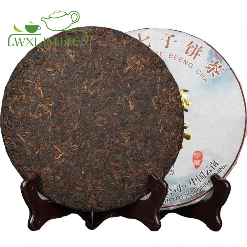 High Quality 357g 2017yr Aged Ripe Puerh Tea Puer Pu erh  Tea Cake