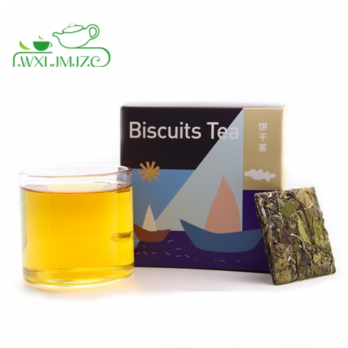 12pcs Mini Square Shaped Fuding Shou Mei White Tea Cake